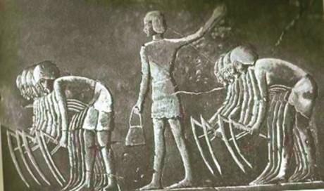 Arbeit; ägyptisches Relief