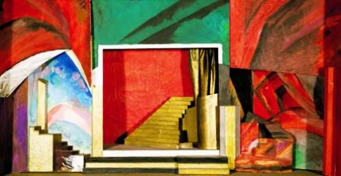 Bühne.Aristarkh v. Lentulovs Entwurf für ein Bühnenbild-zu-anton-rubinsteins-oper-der-dämon-1909