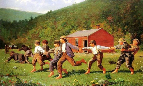 Homer Winslow,Playing boys