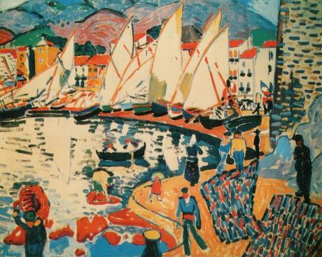 André Derain, Hafen mit Segelschiffen (?)