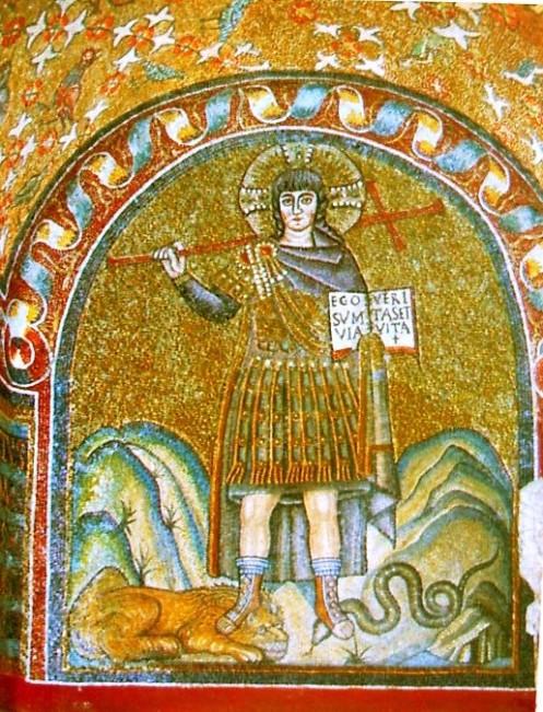 Christus militans; italo-byzantinisches Mosaik