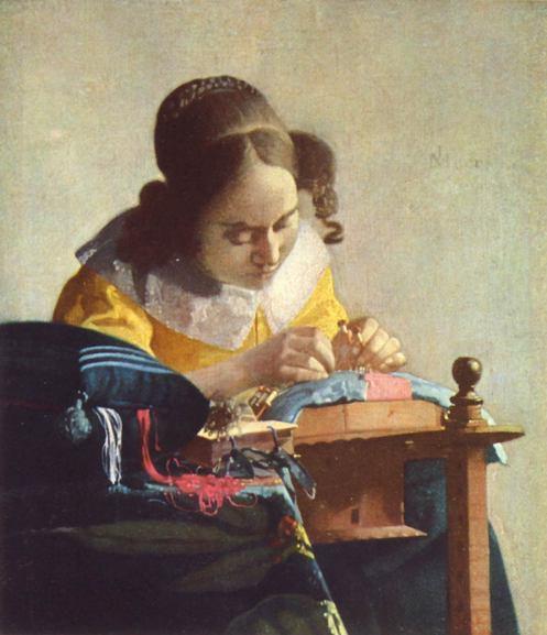 Jan Vermeer, Die Spitzenklöpplerin.