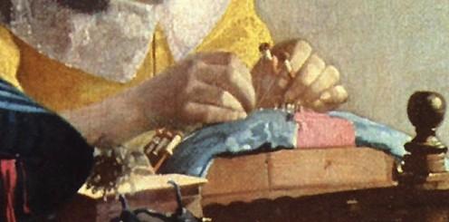 Jan Vermeer, Die Spitzenkloepplerin; Ausschnitt